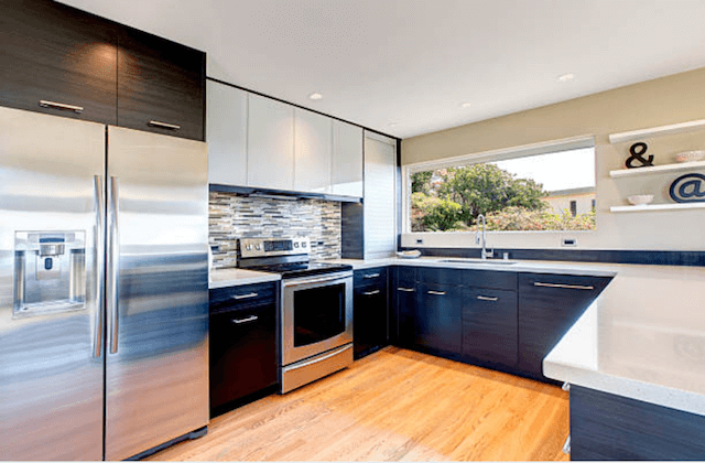 modern stainless steel appliances